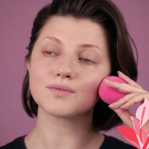 Aplicar base maquillaje de hada