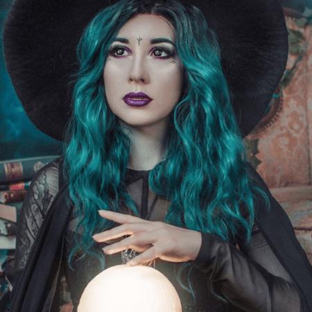 maquillaje de bruja mística