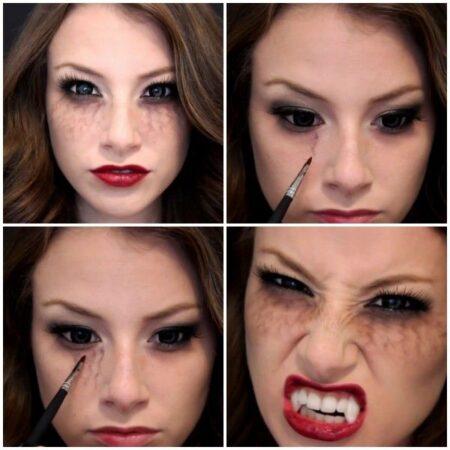 maquillaje vampira paso a paso