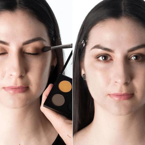 sombrear los ojos para maquillaje de maléfica