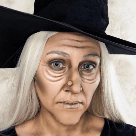 maquillaje bruja vieja