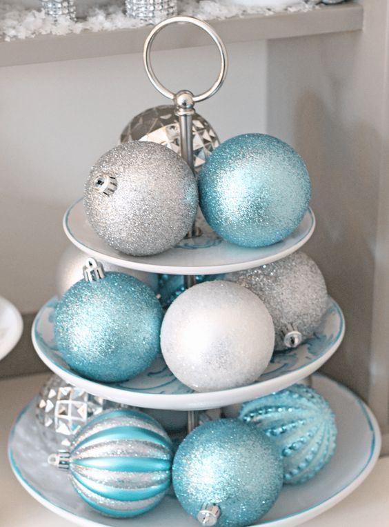 bolas azules de navidad