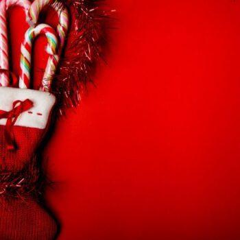 botas navideñas de fieltro