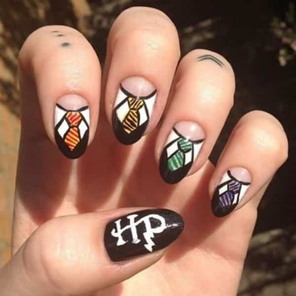 manicura de harry potter