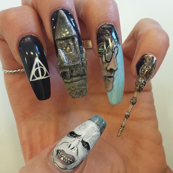 manicura simbología harry potter