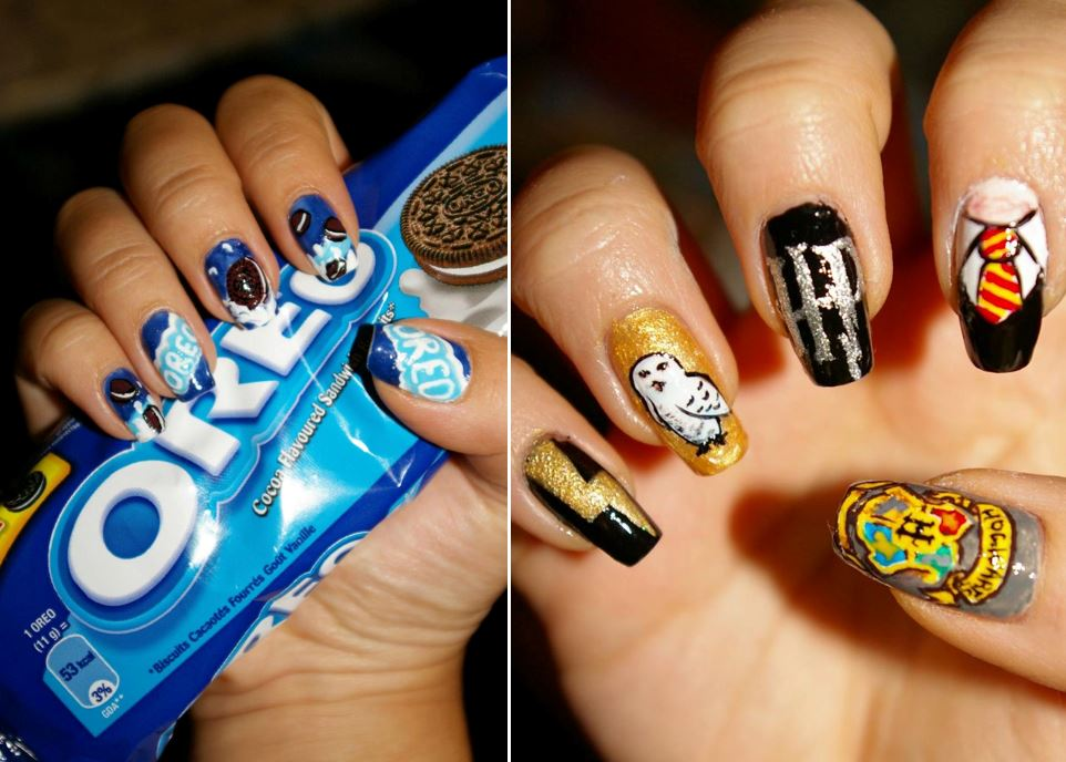 uñas de harry potter manicura