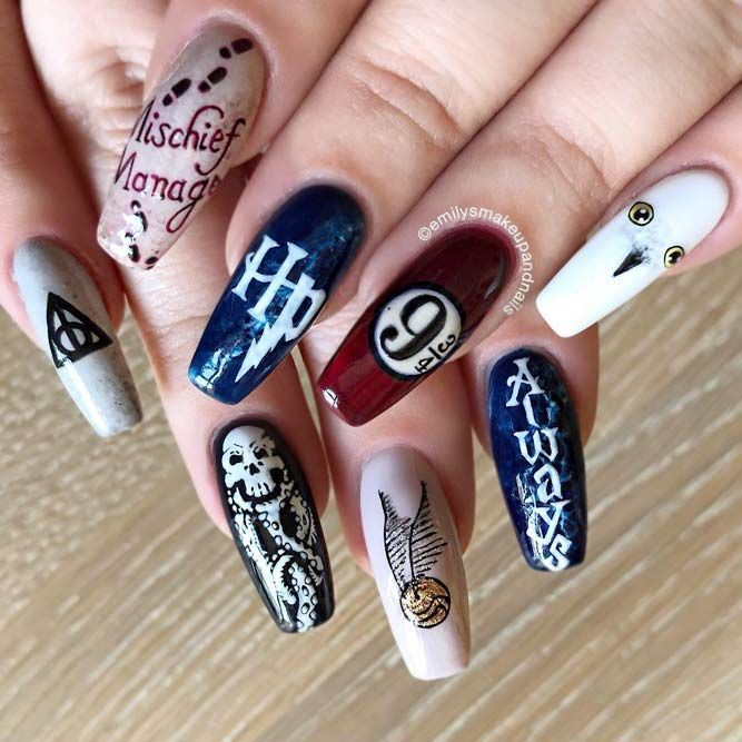 uñas inspiradas en harry potter