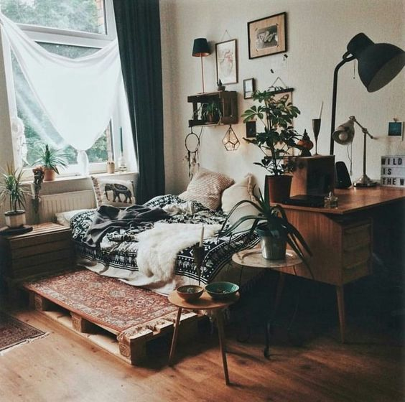 Inspiraciones para crear una base de cama con Palets